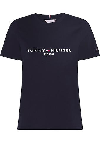 TOMMY HILFIGER Rundhalsshirt »NEW TH ESS HILFIGER C - NK TEE SS« kaufen