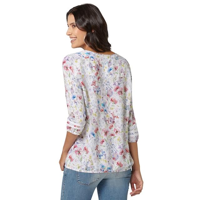 Classic Inspirationen Bluse mit wunderschönem Blüten-Druck
