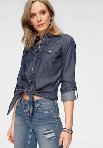 Arizona Jeansbluse »vorn zu knoten« kaufen