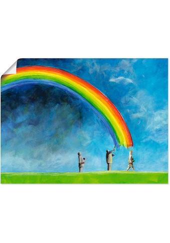Artland Wandbild »Regenbogen malen«, Gruppen & Familien, (1 St.), in vielen Grössen &... kaufen