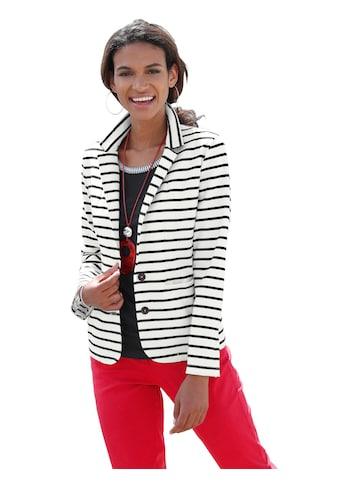 Casual Looks Jersey - Blazer im Marine - Look kaufen