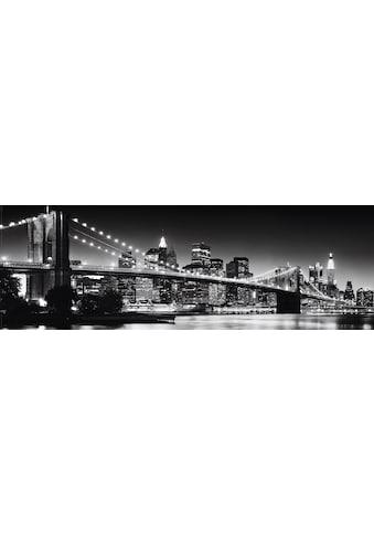 Places of Style Bild »New York  -  Brooklyn Bridge black &« kaufen