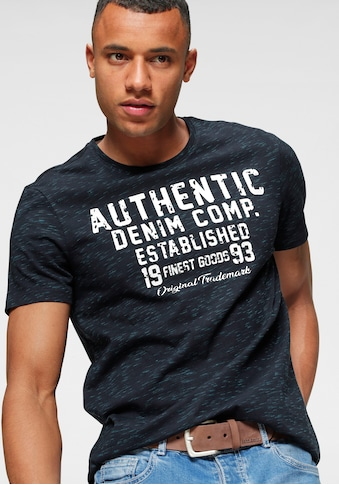 John Devin Rundhalsshirt, markante Melange kaufen