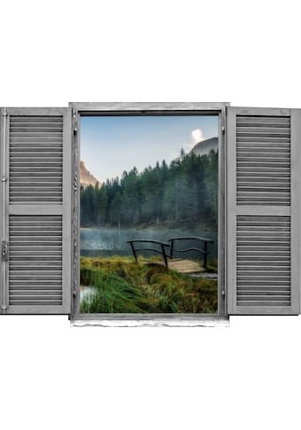 queence Wandtattoo »Wald am See« (1 Stück) kaufen