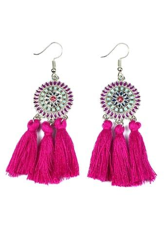 J.Jayz Paar Ohrhaken »runde Ornamente mit Quasten« kaufen