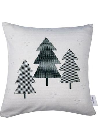 TOM TAILOR Kissenhülle »Christmas Tree«, (1 St.), mit karierten Weihnachtsbäumen kaufen