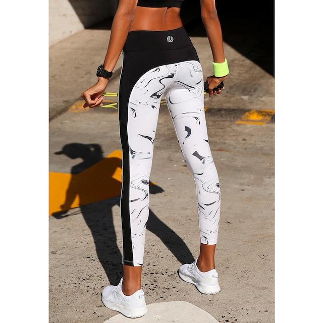 LASCANA ACTIVE Leggings »White Marble«