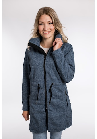 DEPROC Active Softshellparka »KEDGWICK WOMEN LONG«, Softshellmantel in urbaner Strickfleeceoptik kaufen