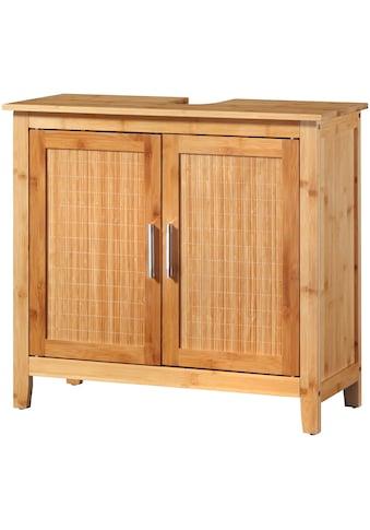 WELLTIME Waschbeckenunterschrank »Bambus New«, 67 cm breit kaufen