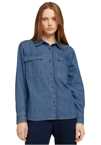 TOM TAILOR Denim Jeansbluse, mit aufgesetzten Brusttaschen kaufen