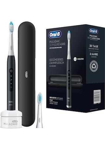 Oral B Schallzahnbürste »Pulsonic Luxe 4500«, 2 St. Aufsteckbürsten, 3 Putzprogramme... kaufen