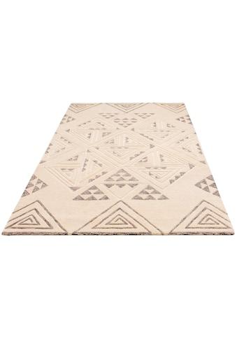Theko Exklusiv Teppich »Keenan«, rechteckig, 15 mm Höhe, Wollteppich, Wohnzimmer kaufen