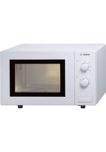BOSCH Mikrowelle »HMT72M420, Weiss«, 800 W kaufen