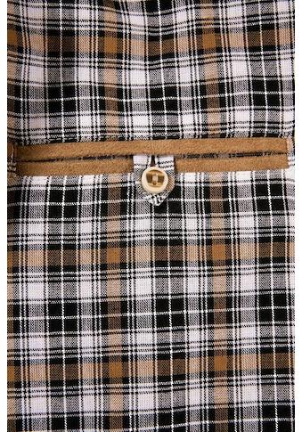 Trachtenhemd mit Lederimitat - Appliaktion, OS - Trachten kaufen