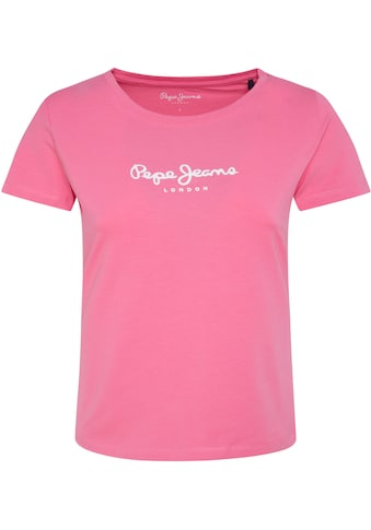 Pepe Jeans T-Shirt »VIRGINIA NEW«, in Sommerfarben mit angesagtem Logo-Print kaufen