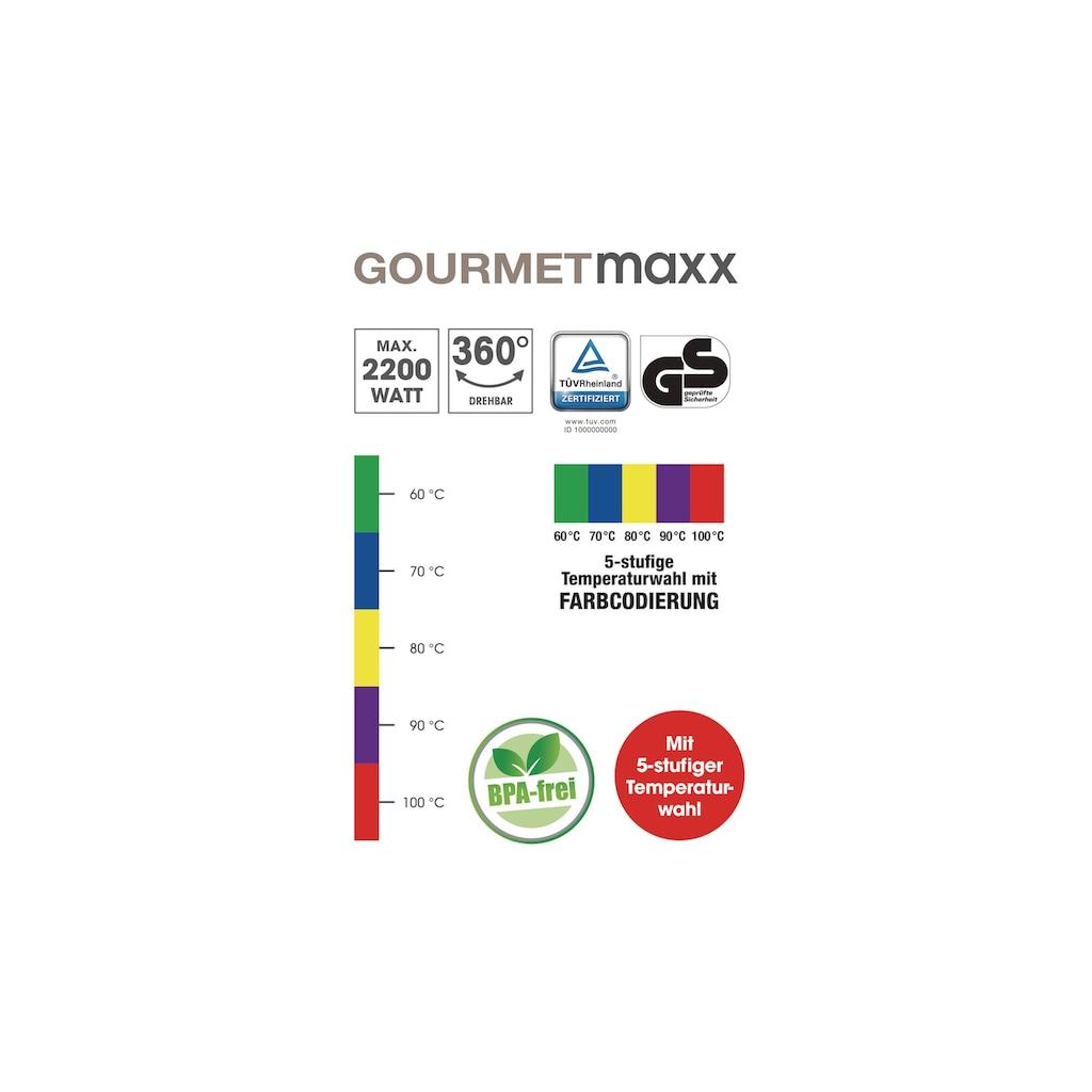 Wasserkocher, BW Products, »Gourmetmaxx LED 1.8 l, Transparent«
