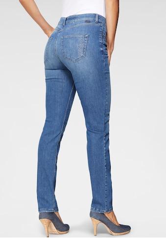 MAC Slim-fit-Jeans »Angela Pipe Glam«, Mit dekorativem Glitzer-Besatz kaufen