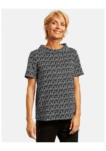 GERRY WEBER Klassische Bluse »Blusenshirt mit Kontrastmuster« kaufen