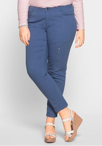Sheego Stoffhose, Reissverschluss am Beinabschluss kaufen