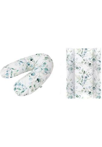 Rotho Babydesign Wickelauflage »Natural Leaves«, in Keilform; inklusive Stillkissen Multi; Made in Europe kaufen