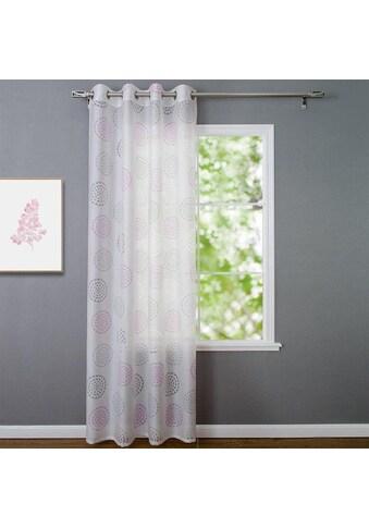 Kutti Vorhang »Bella«, mit 8 silberfarbennen Ösen kaufen