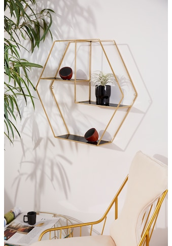 Leonique Wandregal »Hexagon«, sechseckiges Element, goldfarben, in modernem Design kaufen