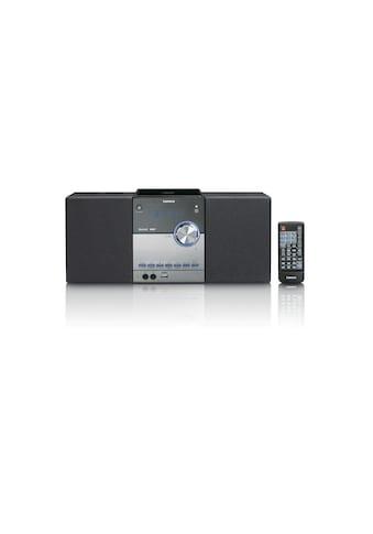 Lenco Microanlage »MC-150 Schwarz Silber«, (CD-Bluetooth Digitalradio (DAB+)-FM-Tuner ) kaufen