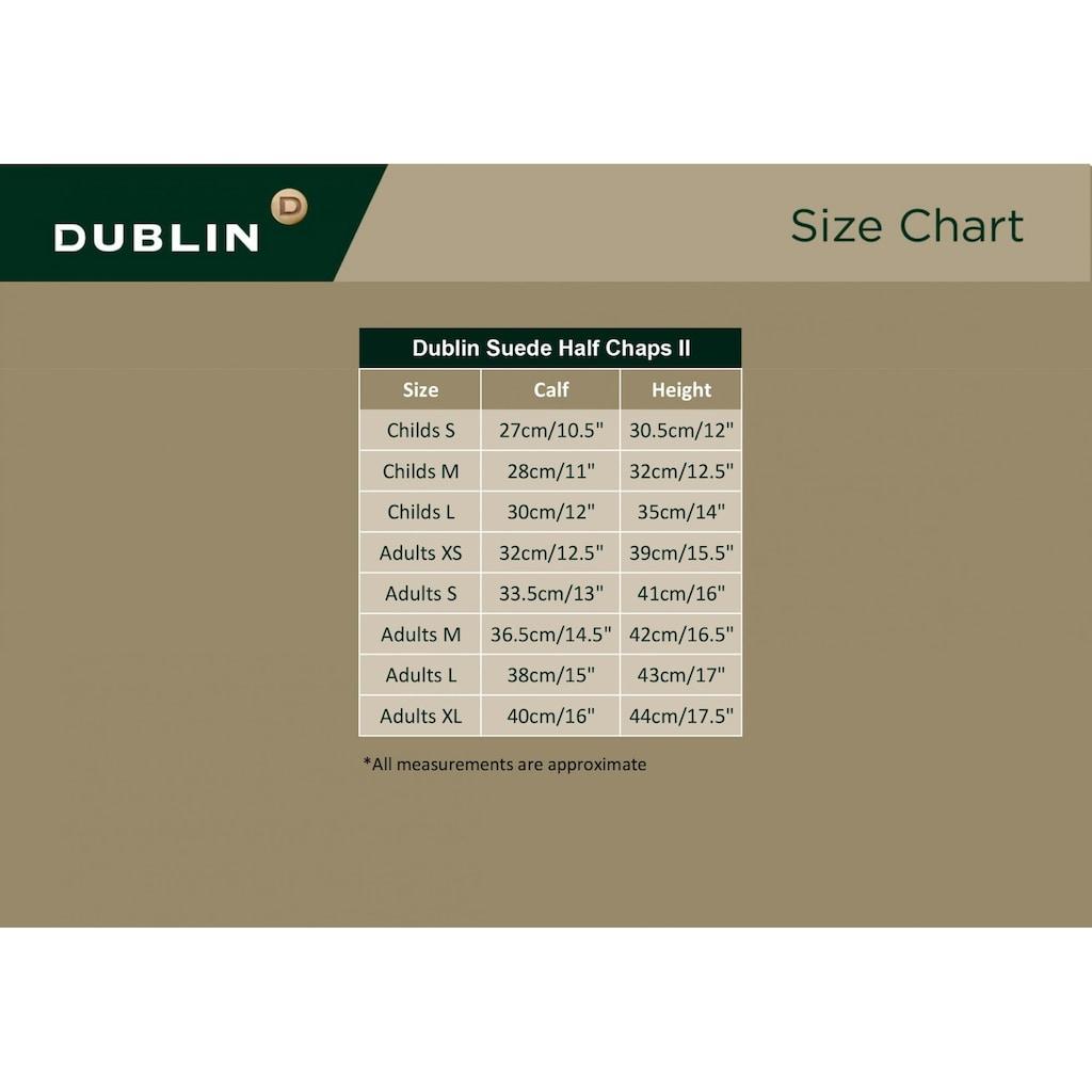 Dublin Beinstulpen »Unisex Velours Halb Chaps II«