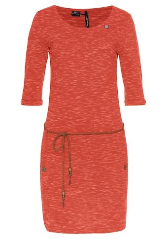 Ragwear Jerseykleid »TANYA SLUB«, (2 tlg., mit abnehmbarem Gürtel), PETA approved Vegan kaufen