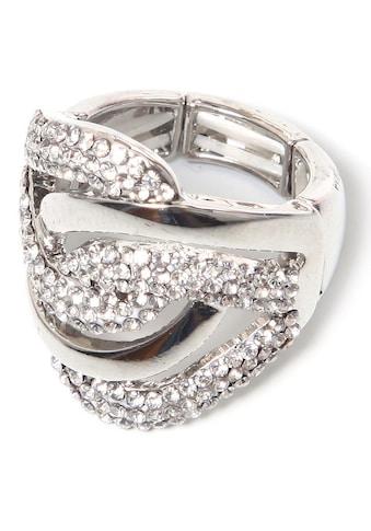 COLLEZIONE ALESSANDRO Fingerring »R2542-F97«, mit Glassteinen kaufen