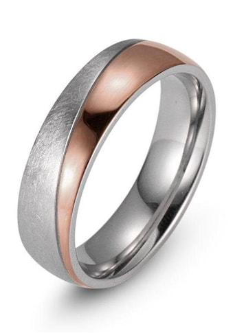 Firetti Trauring »7,0 mm, mit Vertiefung, teilweise IP - beschichtet, roségoldfarben, Glanzoptik, gekratzt, strukturiert« kaufen