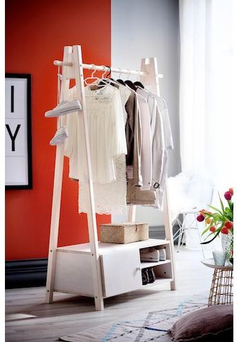 Home affaire Garderobenständer »Ward«, aus massivem weiss lackiertem Fichtenholz, Höhe... kaufen