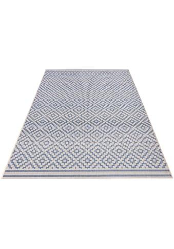bougari Teppich »Raute«, rechteckig, 8 mm Höhe, Flachgewebe, In- und Outdoor geeignet,... kaufen