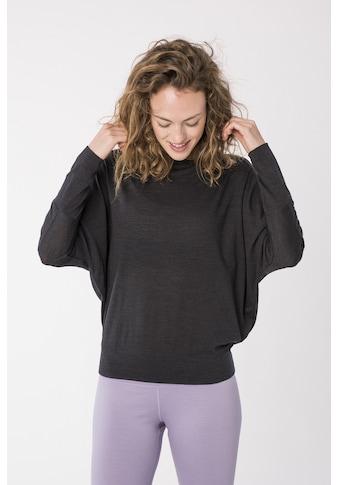 SUPER.NATURAL Fledermausshirt »W KULA TOP«, bequemer Merino-Materialmix kaufen