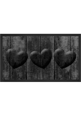 Fussmatte, »3 Hearts«, HANSE Home, rechteckig, Höhe 5 mm, maschinell getuftet kaufen
