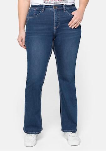 Sheego Bootcut-Jeans, mit farbigen Details, in 5-Pocket-Form kaufen