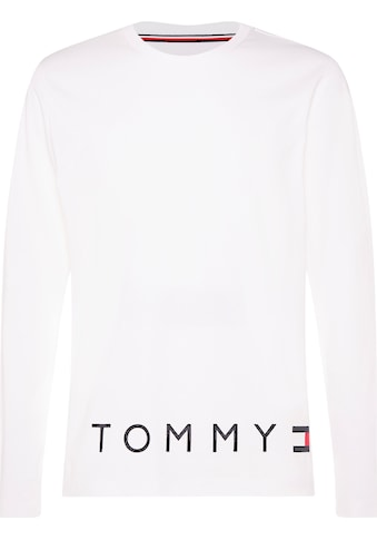 TOMMY HILFIGER Langarmshirt »CORP LOGO HEM LONG SLEEVE TEE« kaufen