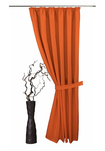 VHG Vorhang »Gerti«, Leinenoptik, Uni, Deko kaufen
