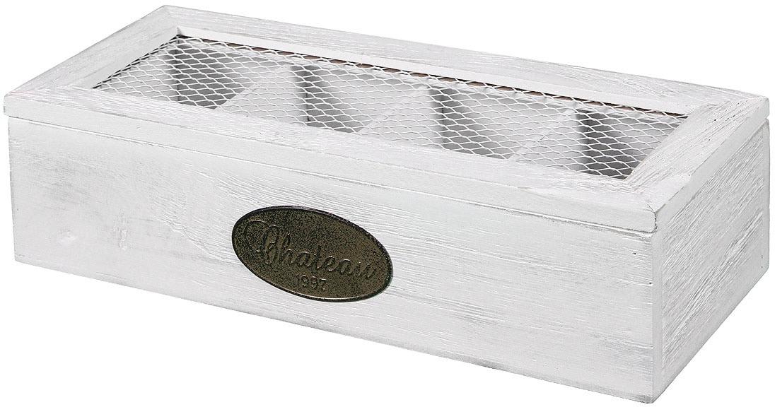 Image of Ambiente Haus Aufbewahrungsbox »Teekaestchen aus Holz 4 Faecher«, (1 St.)