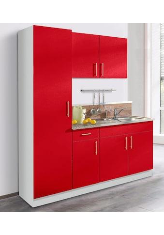 wiho Küchen Küchenblock »Kiel«, Breite 190 cm mit 28 mm starker Arbeitsplatte, Tiefe... kaufen
