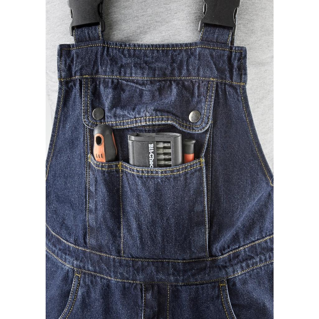 Latzhose »Worker Jeans 2er Set«, (2 tlg.), mit dehnbarem Bund