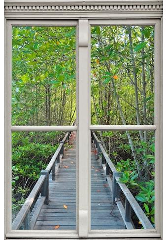 queence Wandsticker »Brücke im Wald« kaufen