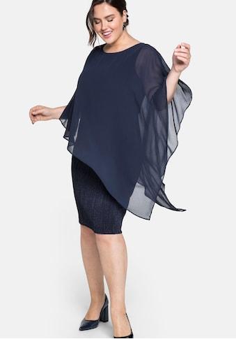 Sheego Cocktailkleid, im Lagenlook, mit Georgette-Cape kaufen