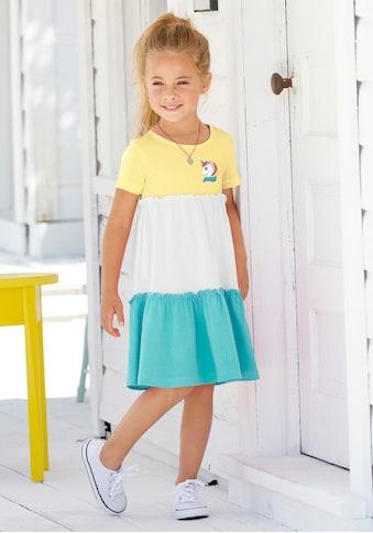 KIDSWORLD Jerseykleid, mit kleinem Einhornmotiv kaufen
