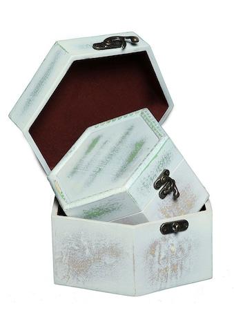 Ambiente Haus Aufbewahrungsbox »Seifenholz Graues Holzkästchen-2er-Set a«, (1 St.) kaufen