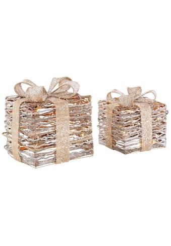 LED Dekolicht »Geschenkbox«, 2 - teilig, mit Glitter 20x20x26 cm und 25x25x31 cm kaufen