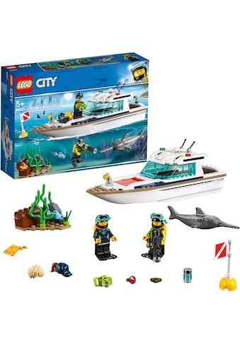 """LEGO® Konstruktionsspielsteine """"Tauchyacht (60221), LEGO® City"""", Kunststoff, (148 - tlg.) kaufen"""