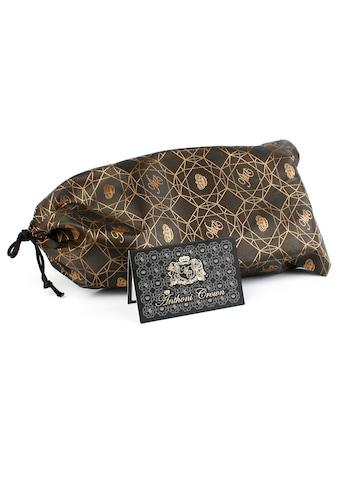 Anthoni Crown Ledergürtel, mit silberfarbener Glas-Schliesse kaufen