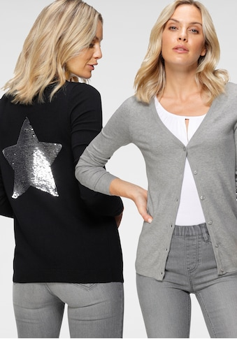 Flashlights Cardigan »Paillettenstern«, mit Glitzereffekt kaufen