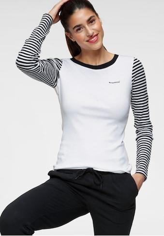 KangaROOS Langarmshirt, im modischem Uni-Streifen-Mix kaufen